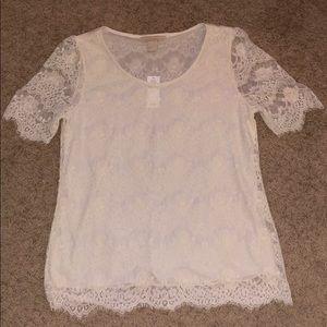 Banana Republic Factory off white lace blouse, sm